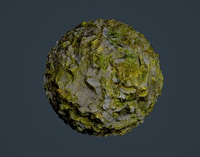 Rock Ground Seamless PBR Texture 08 3D model