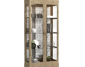 John Richard Living Room STALLINGS CABINET at 3D model 1