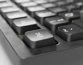 3D model low-poly Keyboard