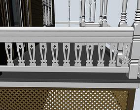 stairway rail 3D Baluster