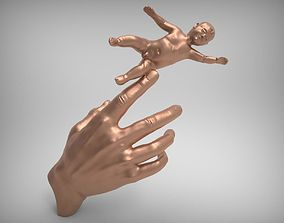 The Hand with The Child 3D print model
