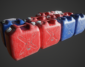Plastic canister 3D model low-poly