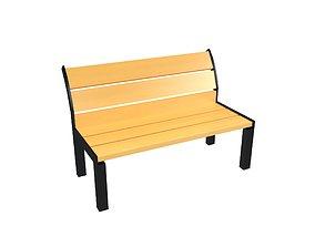 3D asset Park Chair v1 001