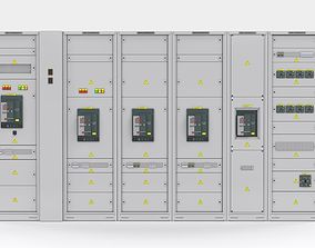 3D model Switching cabinets server automation