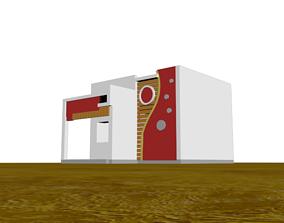 3D Bungalow Home Design realtime