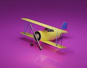 Low Poly Biplane 3D model