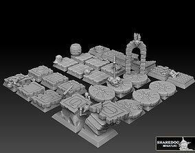 28mm square base megapack Royalty Free 3D print model 1