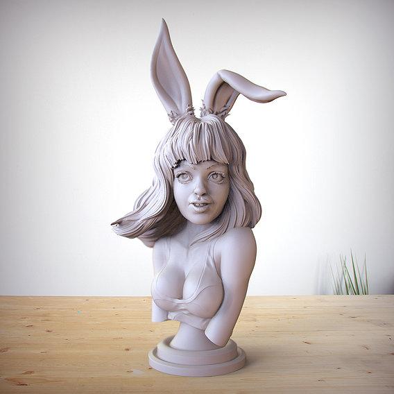 bunny girl Alice bust