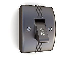 3D model Vintage Light Switch 02