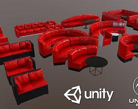 Modern sofas 3D model