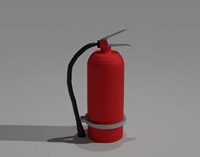 Low-poly fire extinguisher 3D model VR / AR ready