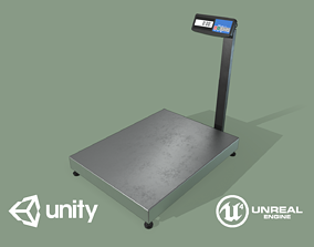3D asset Game Ready Floor Scales
