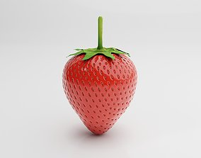 3D model low-poly Strawberry
