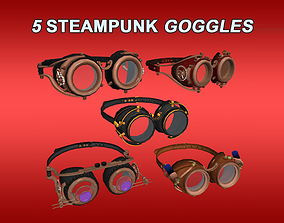 3D asset animated Steampunk Goggles