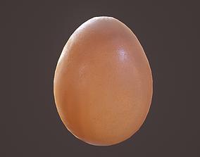3D asset Brown Egg