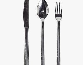 Cutlery set 01 3D