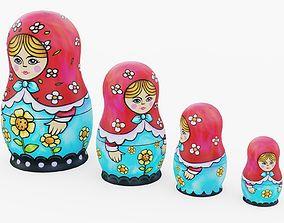 3D asset Matryoshka Dolls