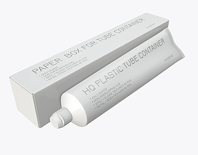 Toothpaste with box 01 3D