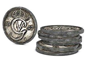 Historic Coins 3D asset