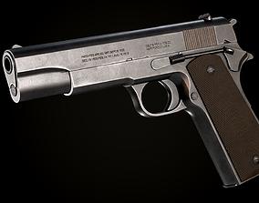 3D model low-poly PBR Colt 1911