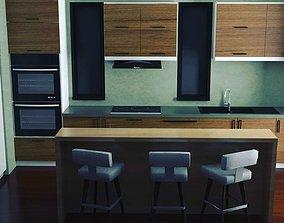 3D rigged Interior Design Kitchen