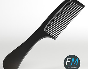 3D model Hair comb with handle