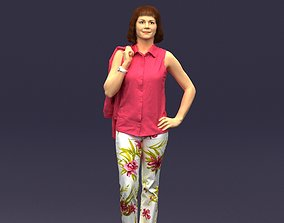 3D print model Flowers pants woman 0403
