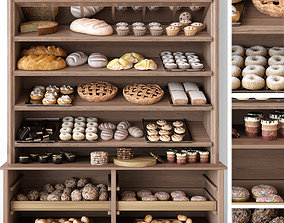3D interior Bakery products