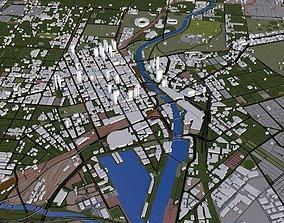 3D model Melbourne City Australia