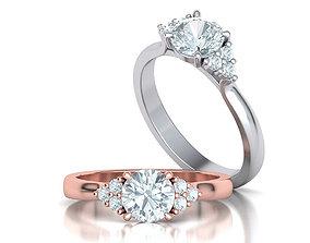 Paradise Engagement ring 1ct stone printable 3dmodel