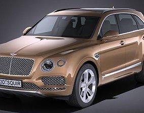 3D HQ Lowpoly Bentley Bentayga 2017