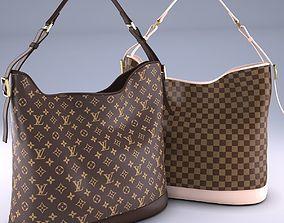 3D model Louis Vuitton Damier Ebene Canvas bag