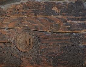 3D asset Burned Wood Table
