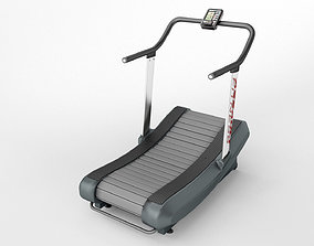 3D curved treadmill air runner