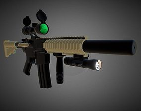 3D model M4 CQB ASSAULT RIFLE