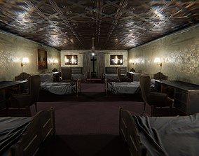 3D model animated HQ Modular Old Interior