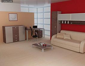 3D model Living Room Furniture 10 Set