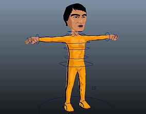 Game of Death Bruce Lee 3D asset