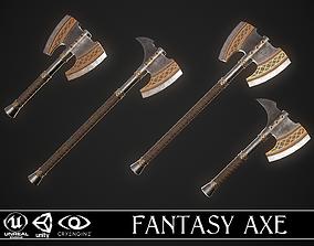 Fantasy Axe 2 - 4 Variations 3D
