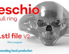 Skull ring - Anello teschio - local 3D printable model