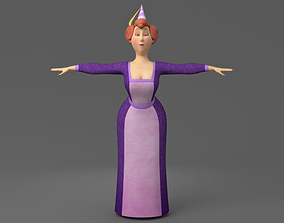 Cartoon fat woman 3D
