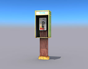 Small Phone Booth 3D asset