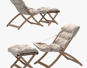 Fiam Linda armchair and matty soft foot stool 3D model