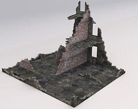 Ruined Damaged Building 2 3D model