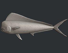 3d STL models for CNC fish Mahi mahi artcam