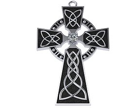 Celtic cross traditional 3D print model