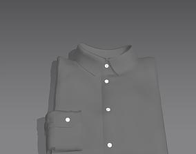 Folded shirt 3D printable model marvelousdesigner