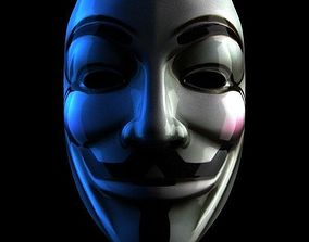 3D model ANONYMOUS MASK GUY FAWKES LEGION