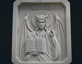 Satan Relief and Pendant 3D printable model