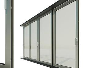3D model Panoramic sliding system Window Door